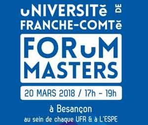 forum des masters 2018 de l'université de Franche-Comté